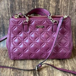 Kate spade quilted crossbody purple